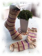 Damen-Wollsocken,8-fäd., aus Sockenwolle von Regia! www.christas-wollstuebchen.com