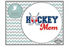 Hockey Mom with Sticks and Puck Sports Cutting File LL024A  SVG DXF EPS AI JPG PNG from DesignBundles.net