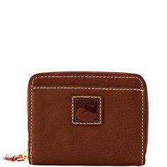 1f97db3176 Dooney and Bourke Florentine sm zip bifold wallet Chestnut Saddle Leather,  Leather Bags, Buy