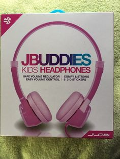 JLAB JBUDDIES KIDS VOLUME LIMITING HEADPHONES PINK  NEW FREE SHIP  | eBay