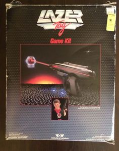 VINTAGE WORLDS OF WONDER LAZER TAG IN BOX gun not working parts cosplay LASER