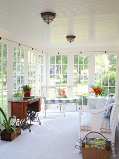 Love this Sunroom [not too thrilled with the country style furniture - but love the sunroom]