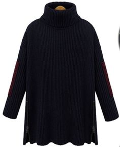 Collar Slim Solid Color Knit Pullover Sweater
