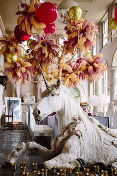UNICORN // Aynhoe Park's unicorn in the Orangery Photography by BarkerEvans
