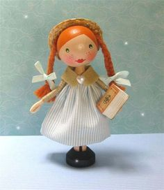 Anne of Green Gables clothespin doll!