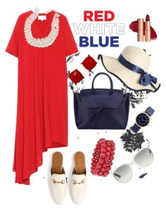 """""""#redwhiteblue"""" by regina-eghie on Polyvore featuring Maison Margiela, Alexandra de Curtis, Carolee, Gucci, Ross-Simons, Marc Jacobs and Ray-Ban"""
