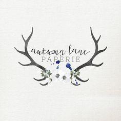 Pre-Made Logo Premade Logo Floral Logo by AutumnLanePaperie