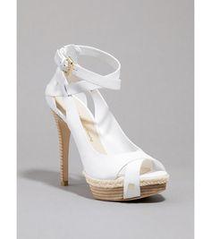 pure white peep toe
