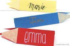 DIY Stift Namensschild: Schule