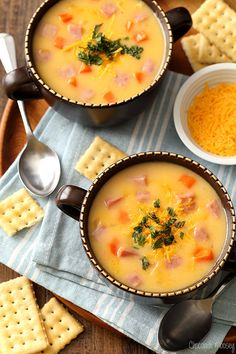 Who doesn't love a good grilled ham and cheese sandwich? Now you can turn it into a one pot meal for a quick and easy weeknight dinner thanks to this Ham And Cheese Soup recipe, ready in 30 minutes