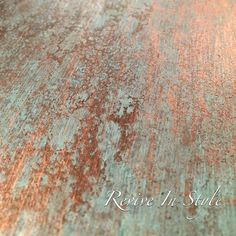 Metal Effects Patina Close-up | Project by Revive in Style