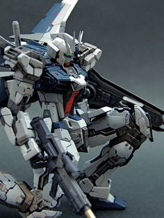 1/144 GAT-X105AZ Strike Azzurro - Custom Build Modeled by shunneige Base Kit Used: RG 1/144 Aile Strike Gundam CLICK HERE TO VI...