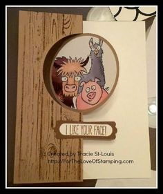 ~For The Love of Stamping~: From The Herd - I Like Your Face Fun Flip it card