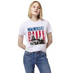 EAST KNITTING H690 2017 Street Fashion Summer Punk Wome T Shirt American Apparel Tops White T-Shirt CLASH Printed Tumblr Tees