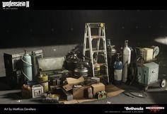 Wolfenstein 2 Prop Support : Submarine Part Matthias Develtere Wolfenstein 2, Game Props, Art Station, Game Assets, Environmental Art, Sci Fi Art, Dieselpunk, 3d Design, Artwork