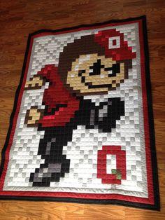 OSU Buckeye Ohio State 8bit Brutus Buckeye by MidWestThreadsOhio, $150.00