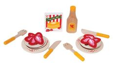 Amazon.com: Hape Playfully Delicious Pancake Breakfast with Strawberries and Syrup: Toys & Games
