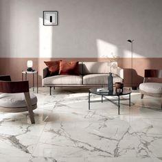 SUPREME EVO: large format porcelain stoneware collection marble effect Living Room Inspiration, Interior Design Inspiration, Living Room White, Living Room Decor, Marble Look Tile, Marble Floor, Living Room Flooring, Style Tile, Evo