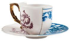 Гибридный Eufemia Чашка кофе - Установить чашку + блюдце с Seletti