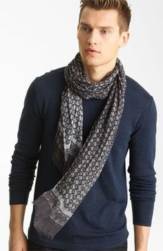 John Varvatos Pattern Print Scarf available at Nordstrom