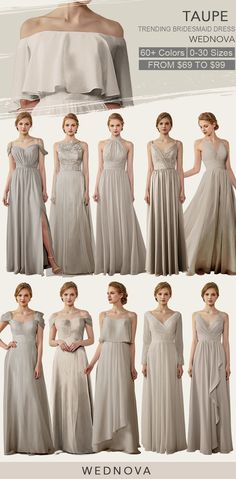 Taupe Bridesmaid Dresses Cold Shoulder Dress Chiffon Straps Dress With Ruffle Cheap Aff Taupe Bridesmaid Dresses Taupe Bridesmaid Dress Long Bridesmaid Dresses