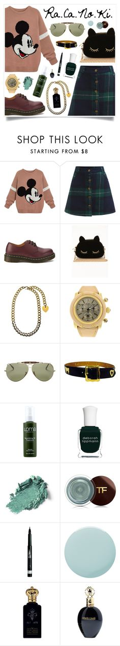 """""""Spoilers"""" by racanoki ❤ liked on Polyvore featuring Dr. Martens, Lanvin, Ray-Ban, Moschino, Loma, Deborah Lippmann, Tom Ford, Rimmel, Smith & Cult and Clive Christian"""