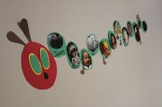 Hungry Caterpillar 1st birthday - a picture for every month.