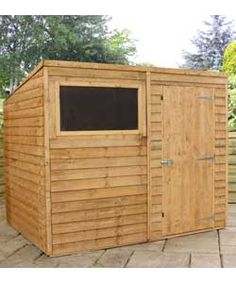 Buy Mercia Garden Overlap Pent Wooden Garden Shed   8 X 6ft At Argos.co