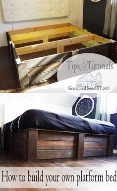 build your own platform bed frame diy