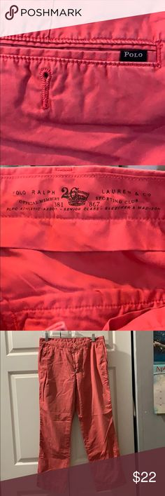Shorts Delicious Mens Polo Ralph Lauren Salmon Shorts Size 34 With A Long Standing Reputation