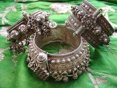 Old silver bracelets from Yemen