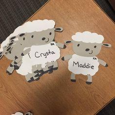 March Door Decs: Nap Themed (sheep) to match the nap bulletin board