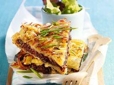 Découvrez la recette Galette de pommes de terre et boudin sur cuisineactuelle.fr.