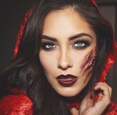 Little Red Riding Hood Halloween Makeup Tutorial & Costume ...