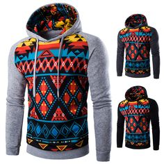 Special price 2017 Hoodies Mens Fashion Spring Long Sleeve Hoodie Hombre Hip Hop Print Patchwork Mens Pellover Jacket Hooded Polo Men Hood  just only $18.90 with free shipping worldwide  #hoodiessweatshirtsformen Plese click on picture to see our special price for you