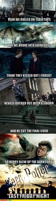 """Draco's hugging Voldemort"" - yes, AMAZING"