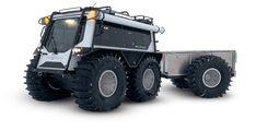 Novo veículo anfíbio para todo o terreno melhora o transporte de pessoal nos locais de trabalho | OEM fora de estrada Cat Engines, Eight Passengers, Caterpillar Engines, Amphibious Vehicle, Search And Rescue, Sales And Marketing, Pickup Trucks