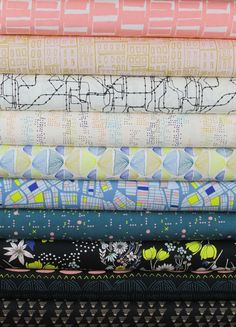 Leah Duncan for Art Gallery, Gramercy, Nightfall in FAT QUARTERS 9 Total