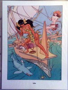 Vier zeefdrukken uit 1989, uit de eerste serie,  De Tegenspeelsters. uitgave 1990. Het betreffen Loloa: Ava Adadelaar, Furora, Mai Mai. Het is druk 538 uit 675. Alles in de originele doorzichtige mappen/ Het geheel ook in de originele verpakking / insteekhoezen.