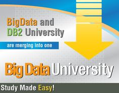 """Big Data education available to everyone! Start a journey of discovery to change the world! Big data technologies such as Hadoop and Streams paired with Cloud Computing can let even students explore data that can lead to important discoveries in the health industry, the environment, and any other area you can think of!"" - See more at: http://bigdatauniversity.com/#sthash.J8f3EbGq.dpufBig Data University"