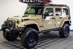 Best Custom Jeep Wrangler Rubicon Mojave Sand Tan Aev 4 5 Lift 400 x 300