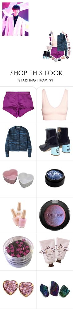 """""""Beautiful - Monsta X"""" by sseungcheol ❤ liked on Polyvore featuring Burberry, H&M, Kenzo, Chiara Ferragni, Inglot, Topshop, Betsey Johnson and Napoleon Perdis"""