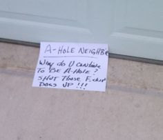 This lover of animals.  | 21 Wonderfully Passive Aggressive Neighbors