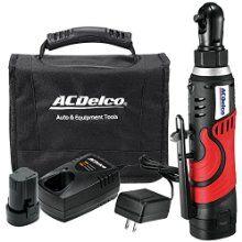 ACDelco Tools ARW804 Li-ion 12V 1/4-Inch Ratchet Wrench Kit, 27-Feet Pound