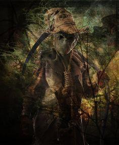 Scary Scarecrow, Headless Horseman, Scarecrows, Hallows Eve, Dark Art, Creepy, Goth, Halloween, Fantasy Art