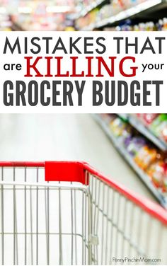 Are you making these mistake when you shop at the grocery store? If so, you could be killing your grocery budget and spending far more than you need to! Learn the secrets to getting the groceries you need on a budget. how much to budget for groceries Living On A Budget, Frugal Living Tips, Frugal Tips, Save Money On Groceries, Ways To Save Money, Money Saving Tips, Groceries Budget, Money Hacks, Money Savers