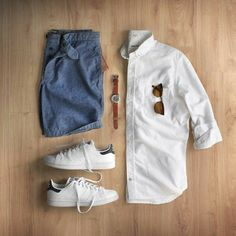 Looking for some amazing casual outfit inspiration for spring? look no further, we've curated 9 amazing outfit grids for guys. Summer outfits for men Mode Outfits, Casual Outfits, Men Casual, Fashion Outfits, Summer Tomboy Outfits, Casual Shirt, Mens Fashion Blog, Urban Fashion, Fashion Trends