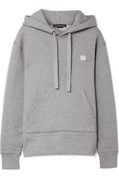 Acne Studios | Ferris Face cotton-jersey hooded top | NET-A-PORTER.COM