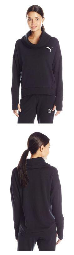 $22.56 - PUMA Women's Elevated Rollneck Sweat W Cotton Black #puma