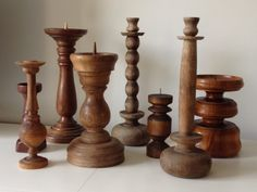 wooden candlesticks Look fab but have to watch as can catch alight Wood Turning Lathe, Wood Turning Projects, Wood Lathe, Lathe Projects, Bougie Candle, Wooden Candle Holders, Candlestick Holders, Wood Bowls, Candlesticks